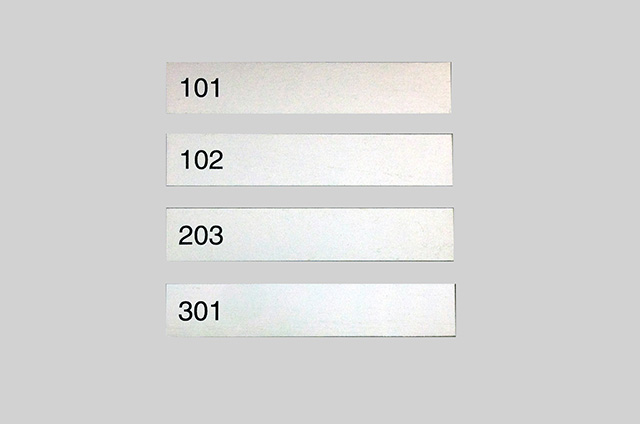 部屋番号プレート(アルマイト)