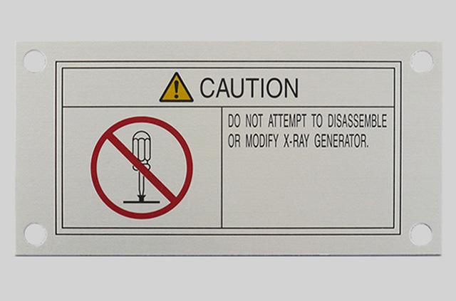 警告銘板(アルミ)アルマイト印刷
