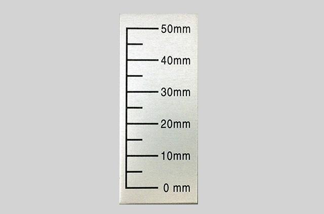 目盛板(アルミ角型)アルマイト印刷