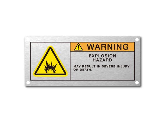 アルミ警告銘板_3色